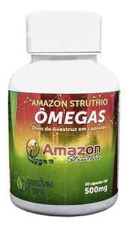 Original Oleo De Avestruz 60 Cap Ômega 3 6 9 Vitamina A D E