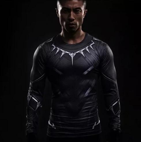 Camisa Compressão, Pantera Negra