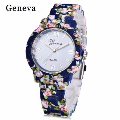 Relógio Quartz Feminino Em Genebra 2017 Luxo Promoção