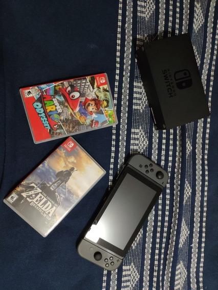 Nintendo Switch 32gb + Memória 128gb + Case + 2 Jogos