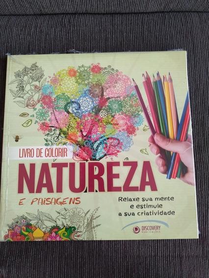 Livro De Colorir: Natureza E Paisagens