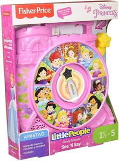 See N Say Disney Princesas Little People Fisher Price Ruleta