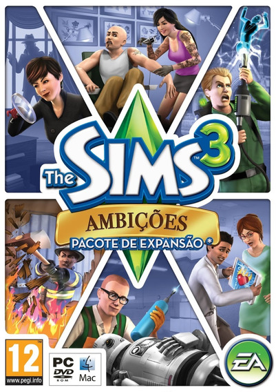 Game Lacrado Pc Mac The Sims 3 Ambicoes Pacote De Expansao R