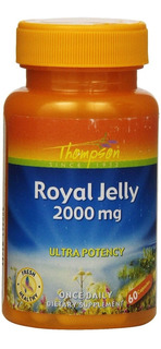 Geleia Real 2000mg 60 Capsulas Thompson Royal Jelly Usa