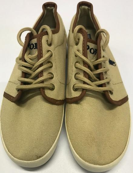 Polo Ralph Lauren Zapatos Talla Us 4.5 23.5 Cms Niño Tenis