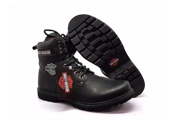 Bota Harley Davidson Unisex + Couro Legítimo *