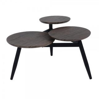 Mesa De Café Redonda Diseñada En 3 Niveles