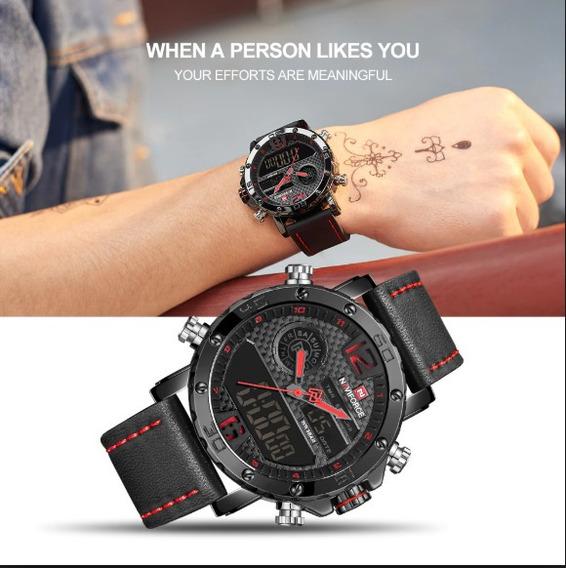 Relógio Esportivo Naviforce Nf9134bo + Pulseira De Brinde