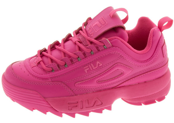 Tenis Casuales De Mujer Fila Disruptor Ii Premium Rosas