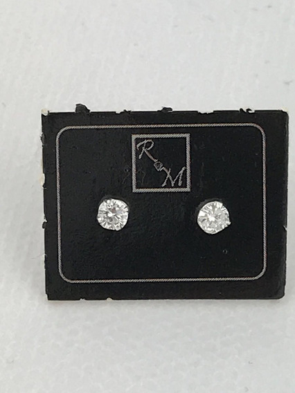 Brincos Zircônia 3 Mm (segundo Furo) Prata 925 C/ Garantia