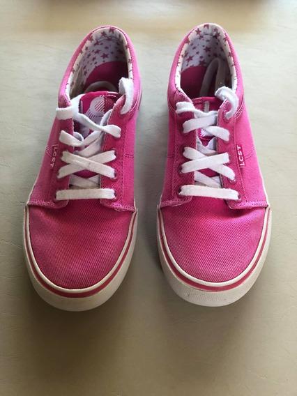 Zapatillas Lacoste Rosas Mujer Talle Usa 7. Usadas
