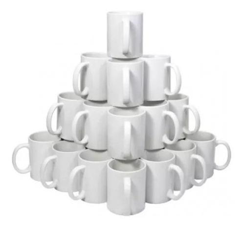 24 Canecas Branca De Porcelana Para Sublimação 325ml Aaa