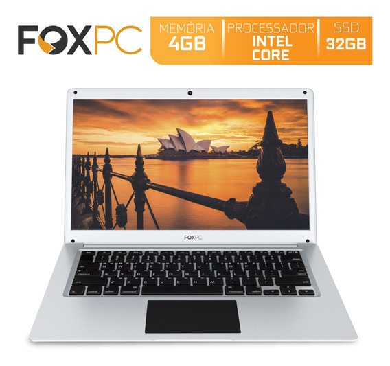 Notebook Foxpc Intel Core 4gb Ssd 60gb 14 Cinza