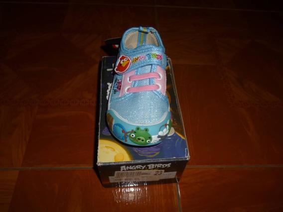 Zapatos Sport Para Ninas Marca Angry Birds Color Celeste #23