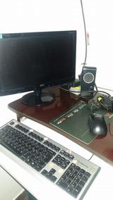 Computador De Mesa Funcionando Perfeitamente Vai Com A Mesa.