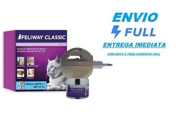 Feliway Classic Difusor + Refil 48 Ml Feromônio / Full