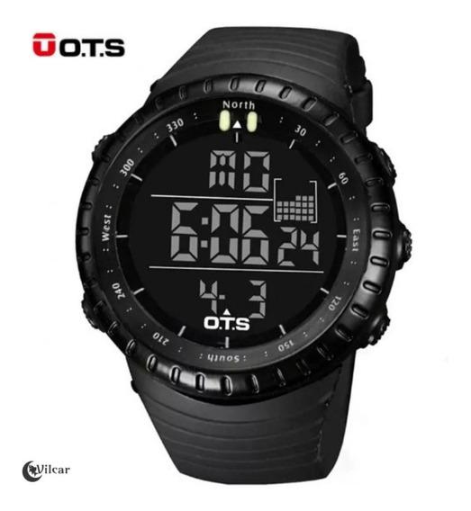 Relógio Digital Militar Ots Esportivo Masculino - Preto