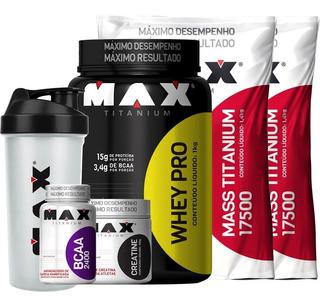 Combo Ganho De Massa Muscular Max Titanium