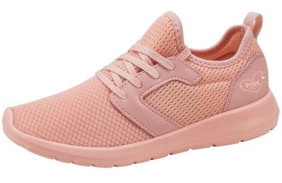 Tenis Casual Pink By Price Shoes 376w Correr Rosa