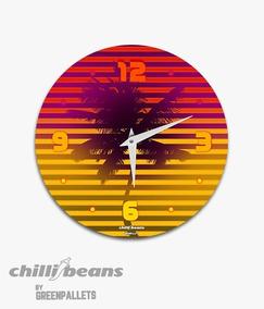 Relógio De Parede Chillibeans - Coqueiro