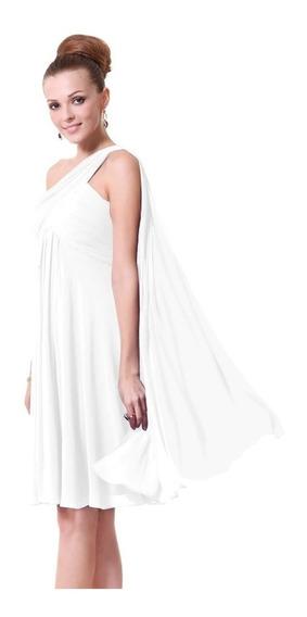 Vestido Novia Corto Civil Blanco