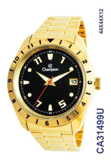 Relógio Masculino Champion Dourado Original !