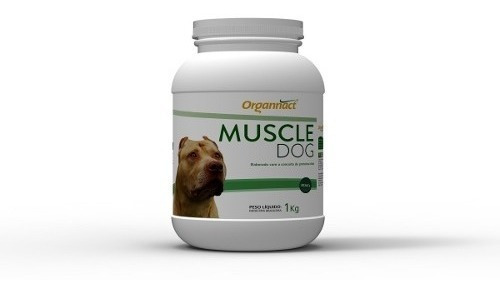 Muscle Dog 1kg Organnact 1 Kg Suplemento Cachorro Cao
