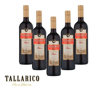 Vinho Tinto Tallarico 750ml (5 Garrafas)