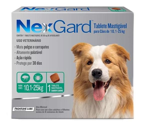 Nexgard 10 A 25kg - Prevenção Contra Pulgas E Carrapatos