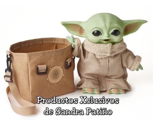 Baby Yoda Mattel C/sonido Y Bolso 28 Cms. Mandalorian Grogu