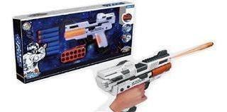 Pistola Airblaster Space Wars Con 6 Dardos Soft