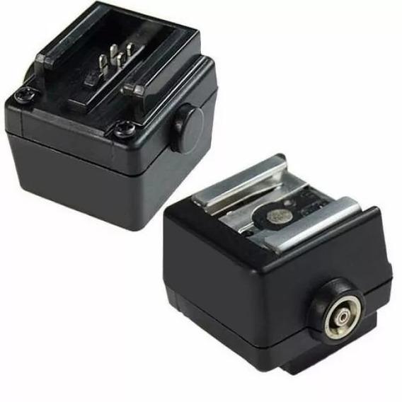 Adaptador Sapata De Flash Canon Nikon Hot Shoe Hc-5 Para Câmera Sony E Minolta