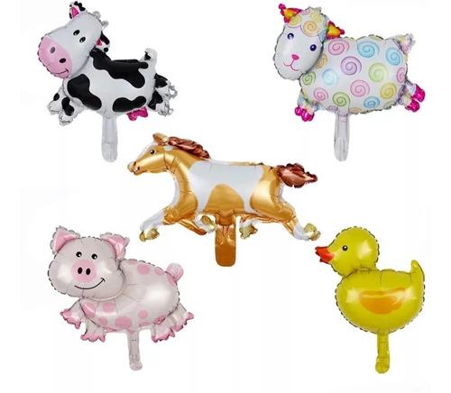 Imagen 1 de 7 de Globos  Animales De Granja Zenon , Vaca Lola