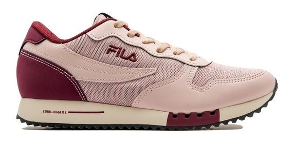 Zapatillas Fila Euro Jogger Gris Y Rosa ¡¡¡envío Gratis!!!