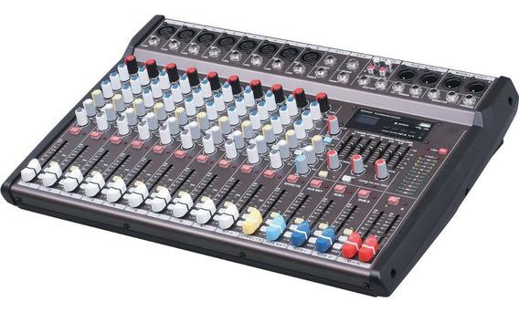 Mesa De Som Profissional Audio Mixer 10ch Phantom E Efeitos