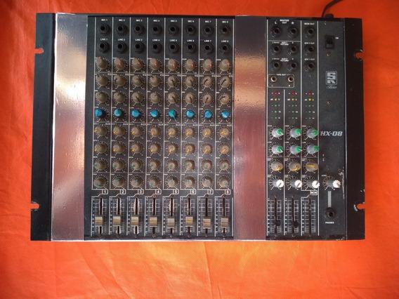 Mesa De Som 8 Canais Staner Hx-08
