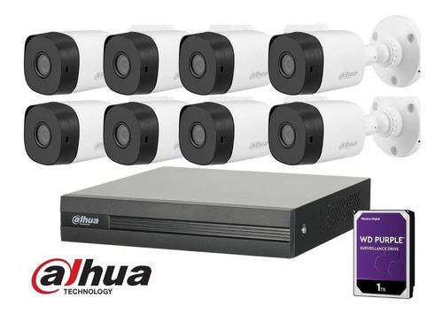 Imagen 1 de 10 de Kit Seguridad Dahua Full Hd Dvr 8 Camaras 1080p Disco 1tb