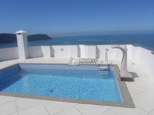 Imagem 1 de 30 de Linda Cobertura No Forte De Frente Para A Praia - Co0003
