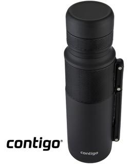 Termo Contigo Black 1.1 Lts Acero Inoxidable Premium By Usa