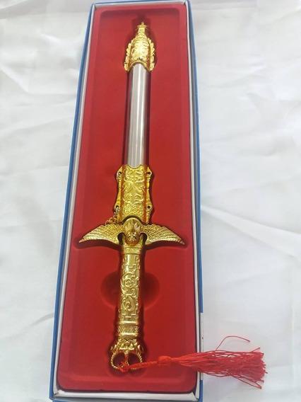 Punhal Cigano - Adaga - 30cm - Prateada Com Dourado