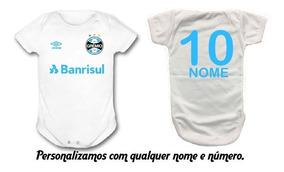 Roupinha Para Bebê Body Uniforme Grêmio