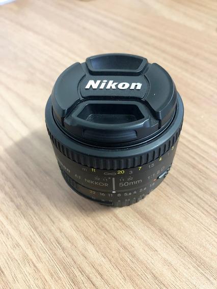 Lente Nikon 50mm F/1.8d Fx Af Original Nikkor Zerada