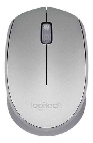 Mouse inalámbrico Logitech  M170 plateado