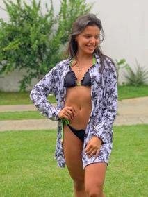 Camisao Saida De Banho Feminino Estampados