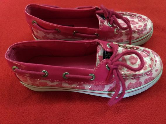 Zapatos Náuticos Nena Rosas Importados. Talle 32.