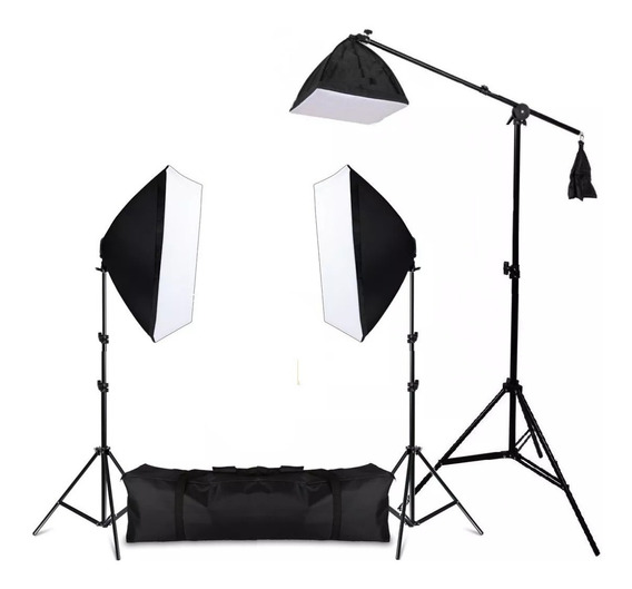 Kit Soft-box Girafa 3 50x70 Luz Continua 5500k C/nf Youtuber