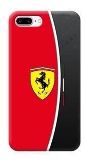 Funda Case iPhone 5 6 7 8 X Plus Ferrari Logo Rojo