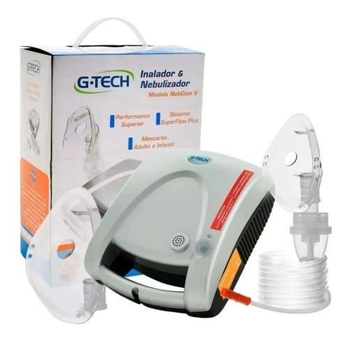 Imagem 1 de 3 de Nebulizador E Inalador Tecnologia Super Flow Gtech Nebcomv