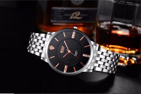 Relógio Masculino De Pulso De Luxo Bosck +frete Grates