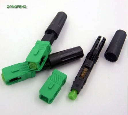 Conector Fast Sc Apc Óptico Fibra Ftth Rápido Verde 50x